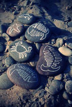 Homemade - Marker on stones