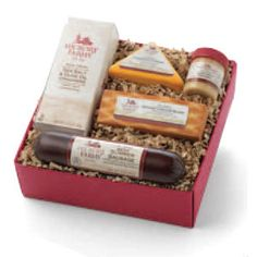 Here's a thoughtful gift for anyone on your list, this rich sampler of Hickory Farms flavors built around Our Signature Beef Summer Sausage. They'll love how perfectly the cheese, crackers and mustard complement that smoky, savory taste.