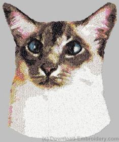 Embroidery designs, embroidery digitizing and FREE designs every week. New ideas, unique embroidery techniques and creative embroidery designs Embroidery Tattoo, Embroidery Motifs, Machine Embroidery Patterns, Embroidery For Beginners, Embroidery Techniques, Balinese Cat, American Shorthair Cat, Cat Machines, Photo Stitch