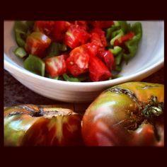 #greek salad in process