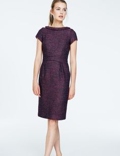 Martha Tweed Dress WH922 Clothing at Boden