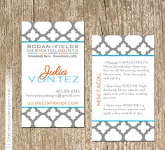 Rodan and fields business card printable digital by tanyasprints rodan and fields business card modern gray quatrefoil by harvestjoydesigns colourmoves Image collections