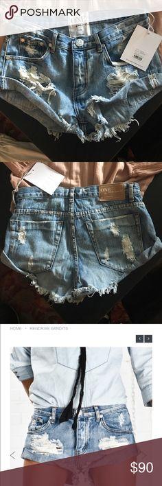 One Teaspoon Hendrixe Bandits size 26 Distressed jean shorts One Teaspoon Shorts Jean Shorts