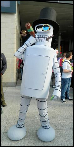 Bender from Futurama cosplay Funny Cosplay, Cosplay Anime, Epic Cosplay, Male Cosplay, Cosplay Diy, Amazing Cosplay, Cosplay Outfits, Cool Halloween Costumes, Halloween Cosplay