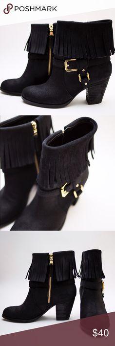 Ralph Lauren Fringe Booties size 5.5 Ralph Lauren Fringe Booties size 5.5 Never worn! Ralph Lauren Shoes Ankle Boots & Booties