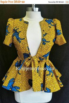 Collection of the most beautiful and stylish ankara peplum tops of 2018 every lady must have. See these latest stylish ankara peplum tops that'll make you stun African Print Dresses, African Print Fashion, Africa Fashion, African Fashion Dresses, African Attire, African Wear, African Dress, Fashion Prints, Fashion Design