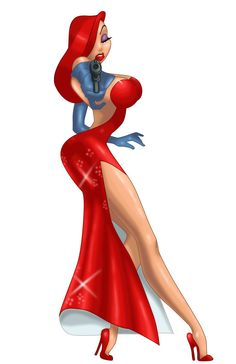 Jessica Rabbit from Who Framed Roger Rabbit? She looks pretty damn awesome! Tatuagem Jessica Rabbit, Jessica Rabbit Tattoo, Jessica And Roger Rabbit, Jessica Rabit, Jessica Rabbit Costume, Wallpaper Animé, Dibujos Pin Up, Rabbit Tattoos, Estilo Disney