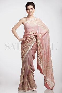 Satya Paul Embroidered Saree 2013 | Indian Bridal Sarees ~ Clothing9 | Latest Clothes Fashion Online Dress Designers