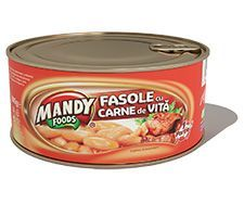 Fasole cu Carne de Vită - Conservă easy-open, 300 g Ben And Jerrys Ice Cream, Coffee Cans, Dog Bowls, Carne, Easy, Desserts, Foods, Tailgate Desserts, Food Food