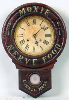 Moxie Is A Soda! — Three super fancy antique Moxie clocks! Dating...