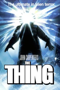 """Set in the winter of 1982 at a research station in Antarctica, a twelve man research team finds an alien being that has fallen from the sky and has remained buried in the snow for over 100,000 years. Unfrozen and unleashed, the THING creates havoc and terror as it changes forms and becomes one of them."" Find John Carpenter's THE THING in our catalog: http://highlandpark.bibliocommons.com/item/show/810043035_the_thing"