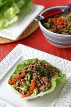 Easy Turkey & Broccoli Lettuce Wraps with Chinese Black Bean Sauce Recipe by CookinCanuck, via Flickr