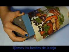 DECORANDO TEJAS DE BARRO PASO A PASO *DECORATING CLAY TILE STEP BY STEP * - YouTube
