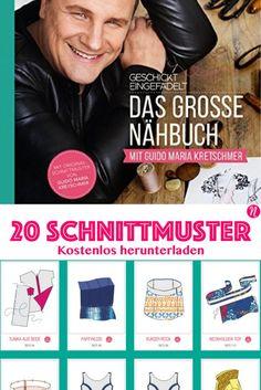 Geschickt eingefädelt - Das große Nähbuch ❤ Alle 20 Schnittmuster zum kostenlosen Download ❤ zum Ausdrucken ❤ Guido Maria Kretschmer ❤ PDF Schnittmuster ❤ Download ❤ ✂ Nähtalente.de ✂