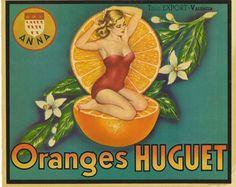 Vintage Orange Crate Label