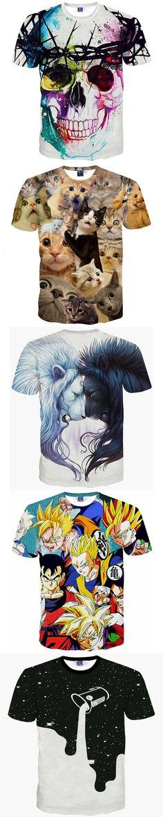 New Fashion Harajuku Men/Women T-shirt 3d Print White Black Lion Hip Hop Brand T Shirt Summer Tops Tees
