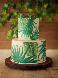 awesome 25 Best Ideas of Tropical Wedding Cake, so Fresh and Beautiful viscawedd. Amazing Wedding Cakes, Amazing Cakes, Fete Marie, Cupcake Torte, Tropical Wedding Reception, Green Wedding, Bolos Naked Cake, Wedding Cake Inspiration, Wedding Ideas