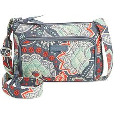 Vera Bradley Signature Little Hipster Bag ($45) ❤ liked on Polyvore featuring bags, handbags, nomadic floral, print purse, floral print handbags, travel handbags, flower print handbags and vera bradley purses