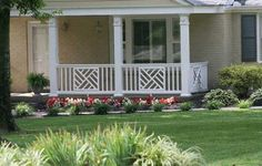 Front Porch Railings: From Wood Deck Railings to Aluminum Porch Railings Aluminum Porch Railing, Wood Deck Railing, Wood Balusters, Stair Railing, Wood Columns Porch, Deck Spindles, Patio Stairs, Wood Decks, Porch Railing Designs