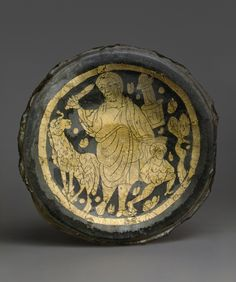 Roman gold glass medallion with the Sacrifice of Isaac, 3rd-4th century A.D. 9.5…