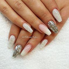 """Diamond"" med Silverflakes & French Ombre #naglar #nails #nagelförlängning #gelenaglar #naglargbg #naglargöteborg #gbg #göteborg #instanails #instagood #nailstagram #naillove #nailpictures #nailsmagazine #nailartaddict #nailaddict #nailwow #ballerinanails #nailswag #nailsofinstagram #beauty #skönhet #fashion #style"