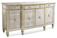 Bassett Mirror 8311-576 Borghese Mirrored Buffet/Server - contemporary - Buffets And Sideboards - Beyond Stores