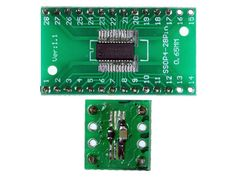 SMT components on carrier board