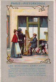 Des petits métiers à Paris en 1900, les musiciens ambulants
