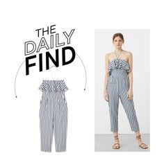 """""""The Daily Find: Mango Jumpsuit"""" by polyvore-editorial ❤ liked on Polyvore featuring MANGO and DailyFind"""