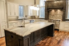 Gorgeous granite slab island from our most recent photoshoot!