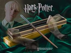 Wand Prop Replica from Harry Potter. It is made by Noble Collection and is approximately 30 cm (11.8 in) long  http://harry-potter.minimodelfilmstuff.co.uk/harry-potter-collectable/harry-potter-draco-malfoy-wand-noble-collection-nn7256