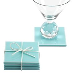 Gelato Coasters - Aquamarine - Set of 4 from Z Gallerie