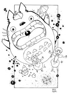 cat bus drawing - google search | color me | pinterest | cats bus ... - Neighbor Totoro Coloring Pages