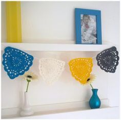 Doily Bunting (free crochet pattern) | A La Sascha
