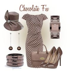 Chocolate mousse inspired fashions