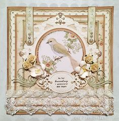 Hello, The Songbird's Secret will soon reach the stores around the world. It's beautiful as always with delicate colors and lovely images. This is my first card, I hope you like it! Have a nice day! M