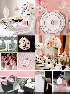 Black And Pink Wedding Decorations Colors Styles Themes