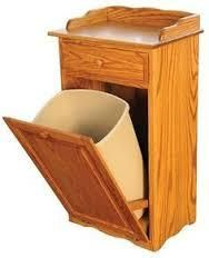 Tilt out trash bin with drawer. Amish handcrafted solid wood available in Oak, Brown Maple, or Cherry. 13 gallon: x x Does not include trash basket. Diy Wood Projects, Wood Crafts, Woodworking Projects, Into The Woods, Amish Furniture, Custom Furniture, Dry Sink, Kitchen Trash Cans, Diy Kitchen Storage