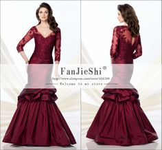 Find More Mother of the Bride Dresses Information about Hot Sale Vestidos Floor Length Three Quarter Sleeve Sexy V Neck Appliques Custom Made Mermaid Mother of the Bride Dresses 2015,High Quality dress turkey,China dress valentine Suppliers, Cheap dress rentals from Suzhou FanJieShi Wedding Dress Co., Ltd. on Aliexpress.com