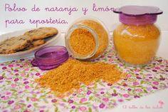 EL TALLER DE LOS DULCES: ♥ Polvo de naranja y limón para repostería.