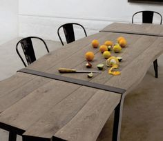 Dining table / contemporary / metal / in wood TABLE 88 by Roderick Fry & Oscar Ono MoaRoom