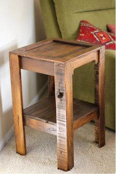 DIY Pallet Side Tables Can Change The Look Of Your Room. Pallet Side Table  With Drawers Is One Of The Best Options To Add Some Extra Storage To Your  Room So ...