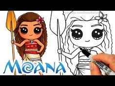 awesome How to Draw Moana step by step Chibi - Disney Princess