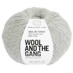 Buy Wool and the Gang Wool Me Tender Chunky Yarn, 100g, Rocky Grey Online at johnlewis.com