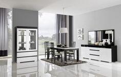 Woonkamer meubel Italiaanse Hoogglans zwart & wit