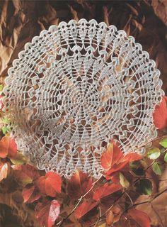 PDF Doily Crochet Pattern : Doily Mat . Placemat. Table Mat . Instant Digital Download by PDFKnittingCrochet on Etsy