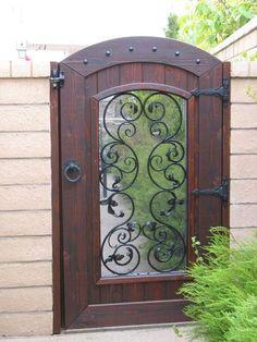 Garden Gate: Iron Window by Rustica Garden Works