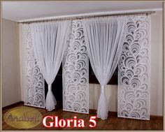 Gloria 5 Komplet na Balkon 3 panele +kokony kar - 6006566451 - oficjalne archiwum allegro Home Curtains, Hanging Curtains, Window Curtains, Curtains And Draperies, Modern Curtains, Valance, Curtain Designs, Curtain Styles, Curtain Ideas