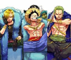 Sanji, Luffy and Zoro One Piece Comic, One Piece Ace, One Piece Manga, One Piece Funny, One Piece Drawing, Zoro One Piece, One Piece World, One Piece Fanart, One Piece Pictures