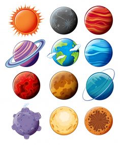 planet fitness workout routine Planeten in der galaxie Kostenlosen Vektoren Space Party, Space Theme, Diy And Crafts, Crafts For Kids, Paper Crafts, Science Projects, Projects For Kids, Vexx Art, Planet Drawing
